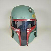 2009 Hasbro Star Wars Boba Fett Mandalorian Talking Helmet No Antenna Working