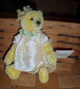 Soapbox *Lemonee Artist Sharon Barron Mohair Bear ~ 7 In. Adorable!