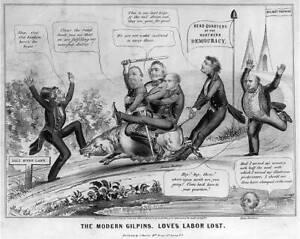 The modern Gilpins,Love's labor lost,1848,Benton,Cass,Van Buren,Woodbury 4234