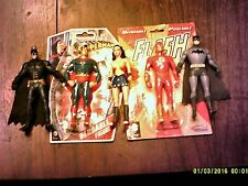 DC Comics 5 LOT 2 BATMAN WONDER WOMAN SUPERMAN FLASH bendable figures 6 INCH