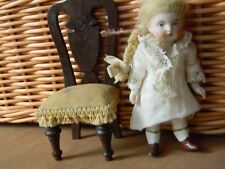 """4 """" Antique All Bisque doll jointed limbs fun brown boots, doll house doll"""