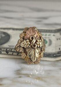 Vintage 10K-12K Gold Black Hills RING - Sz 5 1/2 - 6 Grams                    #1