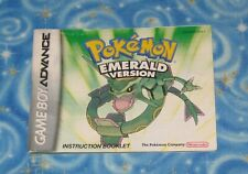 Pokemon Emerald Version Instruction Booklet Only No Game Nintendo GBA Excellent