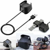 USB Fast Charging Cable Charger Dock Cradle Holder for Fitbit Versa Smart Watch