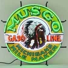 "Musgo Gasoline Car Garage Neon Light Sign 24""x24"""