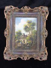 Framed Original Oil Painting Landscape Otto Ritter Van Thoren 8x10 Ornate Frame