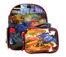 Disney CARS LIGHTNING MCQUEEN Preschool Mini Backpack + Lunch Bag Utility Case