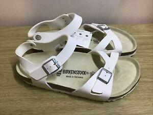 Birkenstock Rio White Sandals Size UK7 EUR40