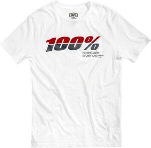 100% 2020 Men's Bristol T-Shirts White All Sizes