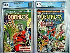 Marvel ASTONISHING TALES #31 CGC 8.0 and #32 7.5 Deathlok 1975