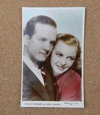 Cecilia Parker & Eric Linden Art Photo Real Photograph Postcard xc2