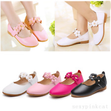 New Kids Infant Girls Leather Flats Wedding Party Toddler Princess Shoes Size