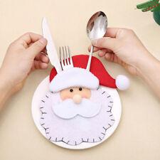 Santa Claus Cutlery Gift bag Christmas tree tableware decoration Xmas Home decor