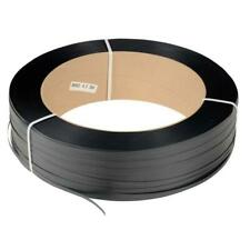 "1/2"" 7200 Ft 600 lb 16x6"" Core Hand Poly Strapping Black Binding Warehouse Use"