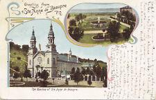 Ste Anne De BeauprÉ Quebec Canada 1903 Carte Postale Pionnière 1 Type Gruss Aus
