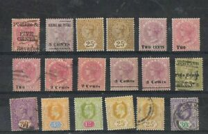 CEYLON - Lot of old stamps