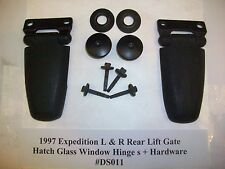 1997 97 Ford Expedition Rear Liftgate Hatch Glass Window Hinge s R & L #DS011+