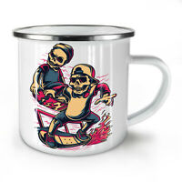 Skull Kids Skating NEW Enamel Tea Mug 10 oz | Wellcoda