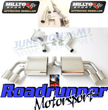 MILLTEK AUDI TT MK2 TTS QUATTRO EXHAUST STAINLESS TURBO BACK INC SPORTS CAT RES