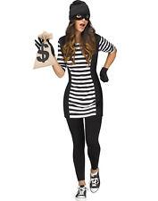 Burglar Babe Womens Adult Criminal Bank Robber Halloween Costume-M/L