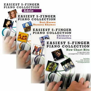 Easiest 5-Finger Piano Collection  - Options: Adele, Nursery Rymes+ - Easy Piano