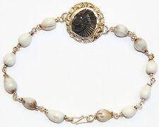 Shaligrama Sudarshan shila bracelet in pure silver with Vaijanti beads