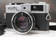 :Minolta Hi-Matic 7s II 35mm Film Rangefinder Camera Rokkor 40/1.7 Lens w Hood