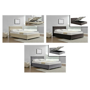 AUSTWIDE HARLO HIGH QUALITY QUEEN SIZE FABRIC BED FRAME 3 X COLOURS **NEW**