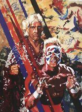 Autographed Ric Flair & Sting 18 x 24 Poster, Print WWE NWA WCW WWF NWO