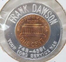 1963-D Frank Dawson Ford Service (Fort Wayne Indiana In Ind.) Encased Cent Penny
