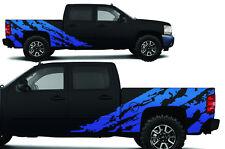Custom Vinyl Decal Shred Wrap Kit for Chevy Silverado Truck 1500/2500 08-13 BLUE