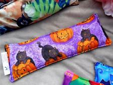 EYE PILLOW, HALLOWEEN CATS, COOL SOOTHING STRESS RELIEF,  FLAX SEED & LAVENDER
