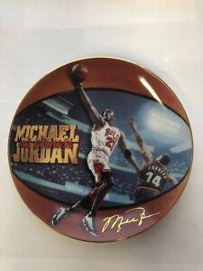 "Michael Jordan Plate ""His Airness - 5 Time NBA MVP"" Upper Deck Bradford Exchange"