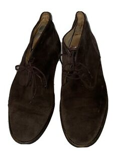 Russell & Bromley Brown Suede Mens Classic Desert Boots 43