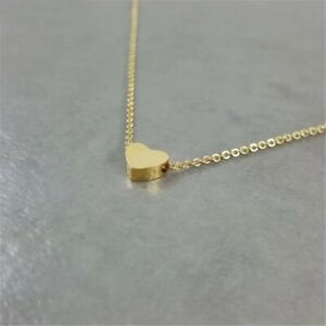 Stainless steel sweet heart ladies 18k gold plated necklace *NEW*