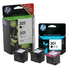 2x Original HP 301 Black & 1x Colour Ink Cartridge For Officejet 2620 Printer