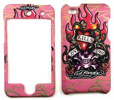 Ed Hardy Love Kills Slowly Pink Apple iPod 4 Protective Faceplate Case Cover