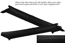 BLACK STITCH FITS TOYOTA SUPRA 86-92 MK3 MKIII WINDSCREEN PILLAR LEATHER COVERS