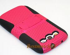 for Samsung galaxy s3 hard soft case skin hot pink kickstand 2 layer S III