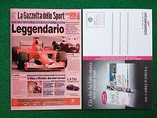 6224 SCHUMACHER Advertising Pubblicita' Cartolina Gazzetta dello sport 22/7/2002