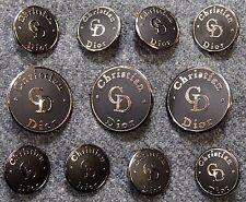 Christian Dior Silver Metal Blazer Buttons Set
