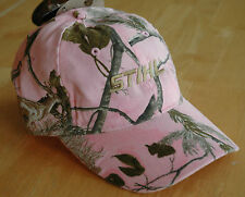 """Stihl Realtree Wildlife Series Pink with """"Buck"""" Embroidery Hat / Cap"""