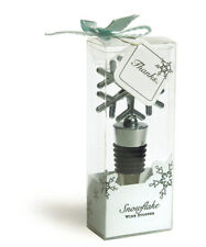 Snowflake Wine Bottle Stoppers Winter Wedding Favors