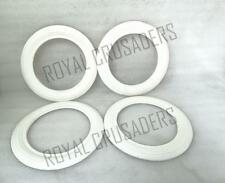 NEW VESPA WHITE WALLS 8'' 4 PIECES FOR 2 TYRES 3.50X8 SIZE