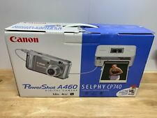 Canon Power Shot A460 W/ Selphy CP740 Kit New Open Box