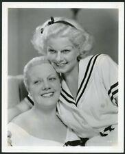 JEAN HARLOW w MOTHER Original Vintage 1934 MGM PORTRAIT DBLWT Photo by GRIMES