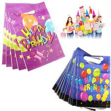 Sacchetti di Plastica Loot Buon Compleanno Bambini Party Borsa Filler Regalo Confezione da 16
