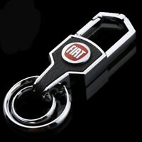 Fiat car metal keyring key safe fob case cover badge holder chain tags