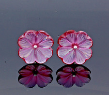 "LALIQUE ""FUCHSIA""  PETAL EARRINGS. Ref: 10385700.  RRP £220"