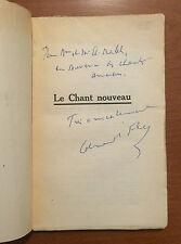 Book signed by EDMOND FLEG, LE CHANT NOUVEAU, EDMOND FLEG - SIGNATURE, E. I. F.
